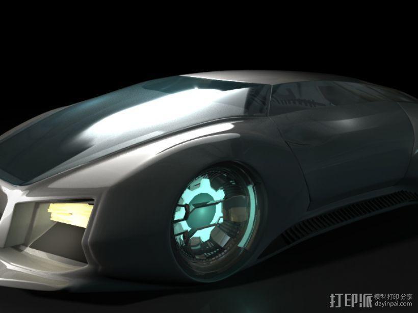 未来式跑车 3D模型  图1