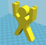 3D小人牙刷架子 3D模型 图1