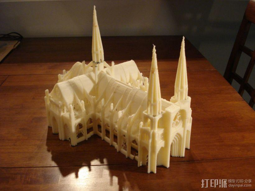 哥特式大教堂 3D模型  图1