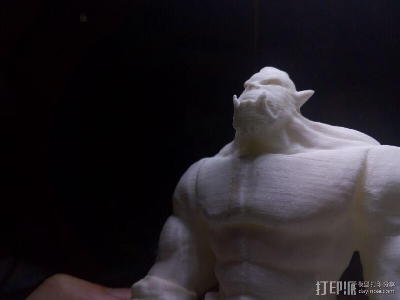 肌肉兽人 3D模型  图4