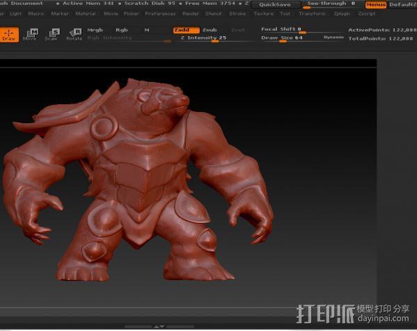 大熊熊 英雄联盟系列可以直接打印 3D模型  图2
