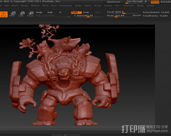 树人~炒鸡帅~可以直接打印。下面有我的上色图 3D模型  图5