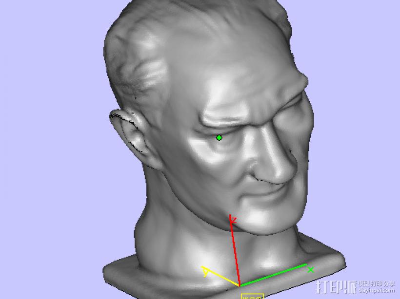 扫描头像 3D模型  图1
