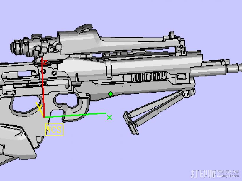 玩具枪 3D模型  图1