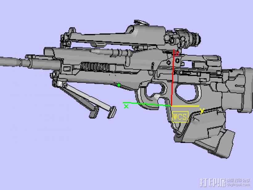 玩具枪 3D模型  图2