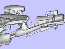 激光枪 3D模型 图1