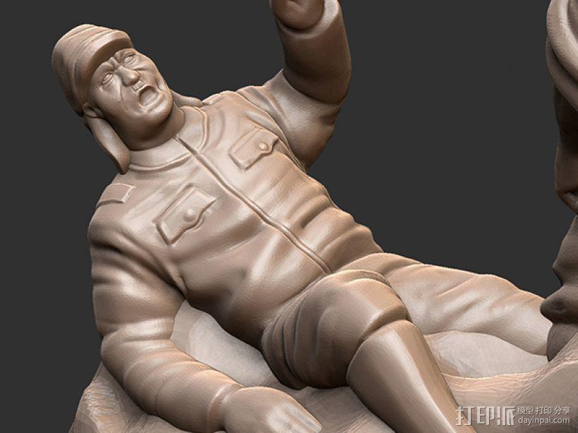 抗战胜利70周年纪念——大刀向鬼子头上砍去 3D模型  图4