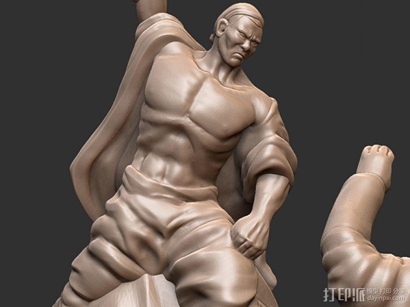 抗战胜利70周年纪念——大刀向鬼子头上砍去 3D模型  图3