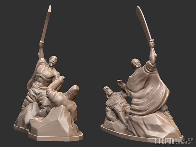 抗战胜利70周年纪念——大刀向鬼子头上砍去 3D模型  图1