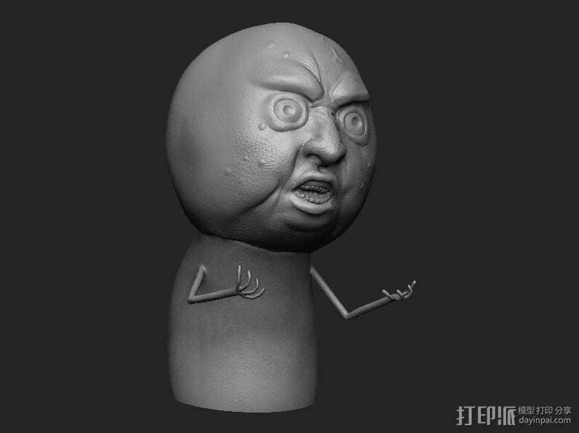暴走漫画经典形象 3D模型  图1