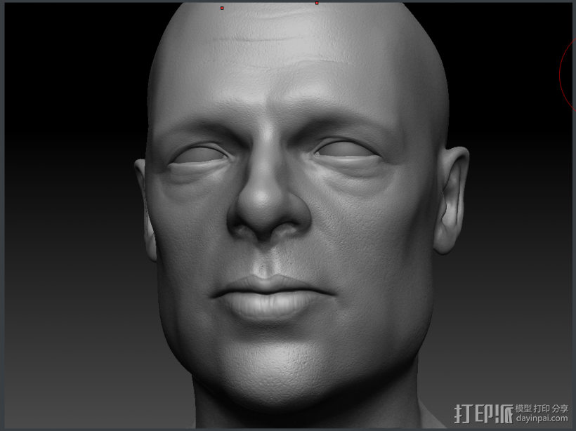 Brad Pitt高精模型 3D模型  图4