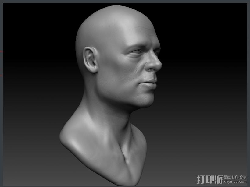 Brad Pitt高精模型 3D模型  图3