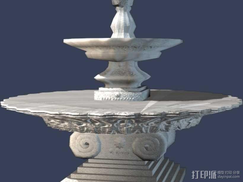 欧式 叠水 001 3D模型  图1