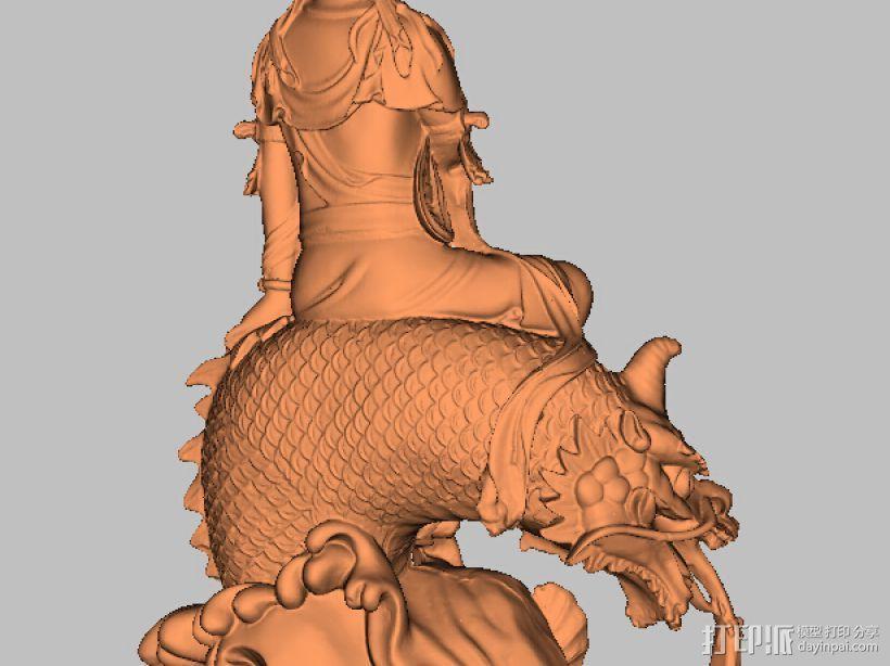 鱼兽观音 3D模型  图4