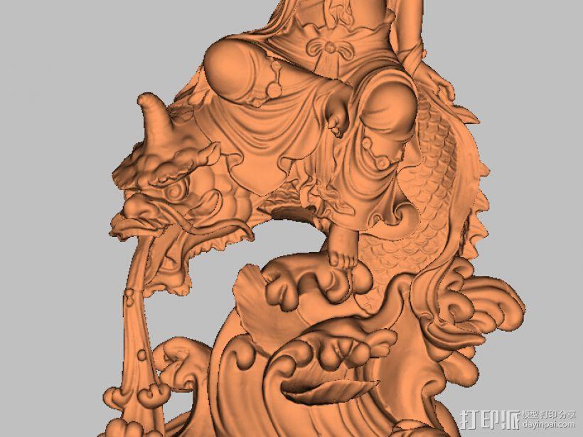 鱼兽观音 3D模型  图3