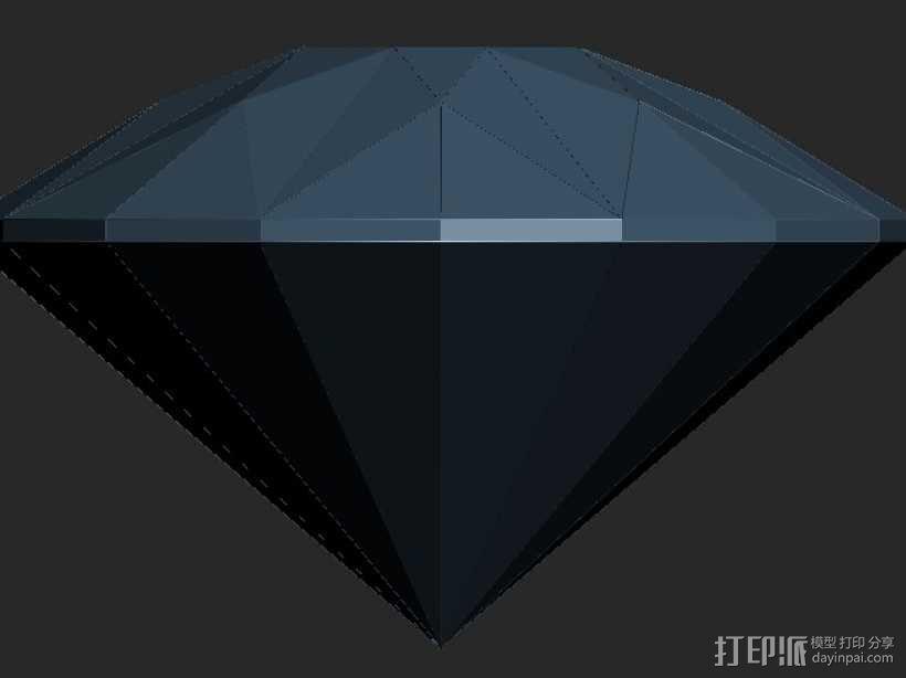 建筑造型钻石 3D模型  图1