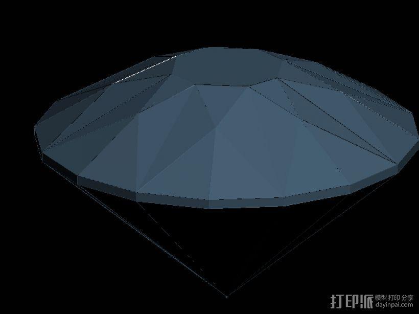 建筑造型钻石 3D模型  图2