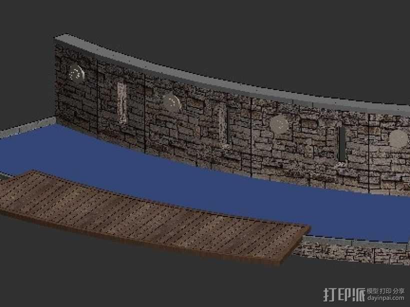 小区街头水景景观 3D模型  图1