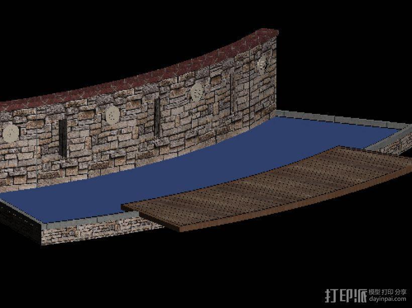 小区街头水景景观 3D模型  图2