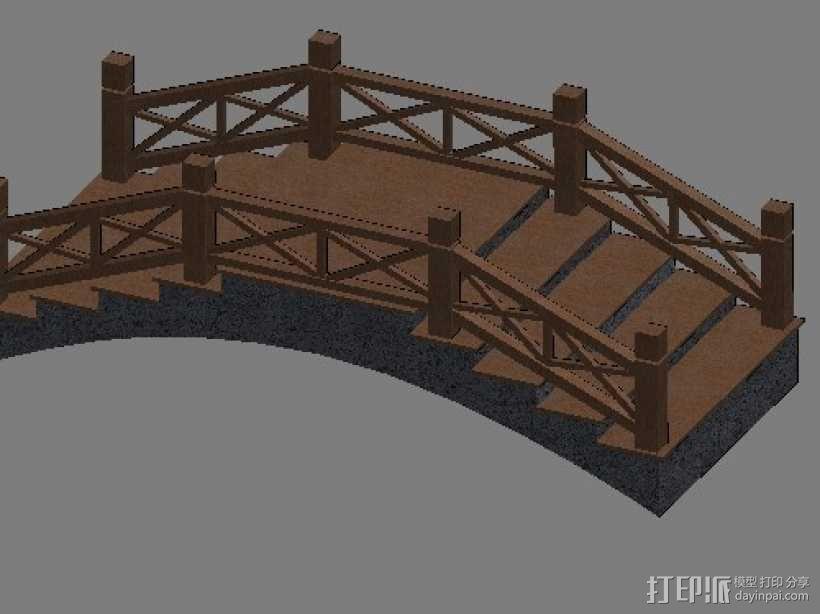景观小桥 3D模型  图1