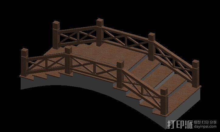 景观小桥 3D模型  图2