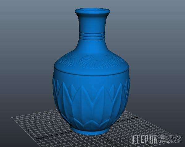 瓷瓶 3D模型  图2
