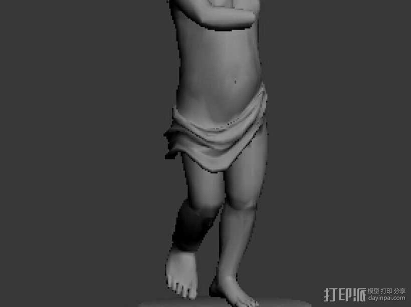 1311天使像 3D模型  图1