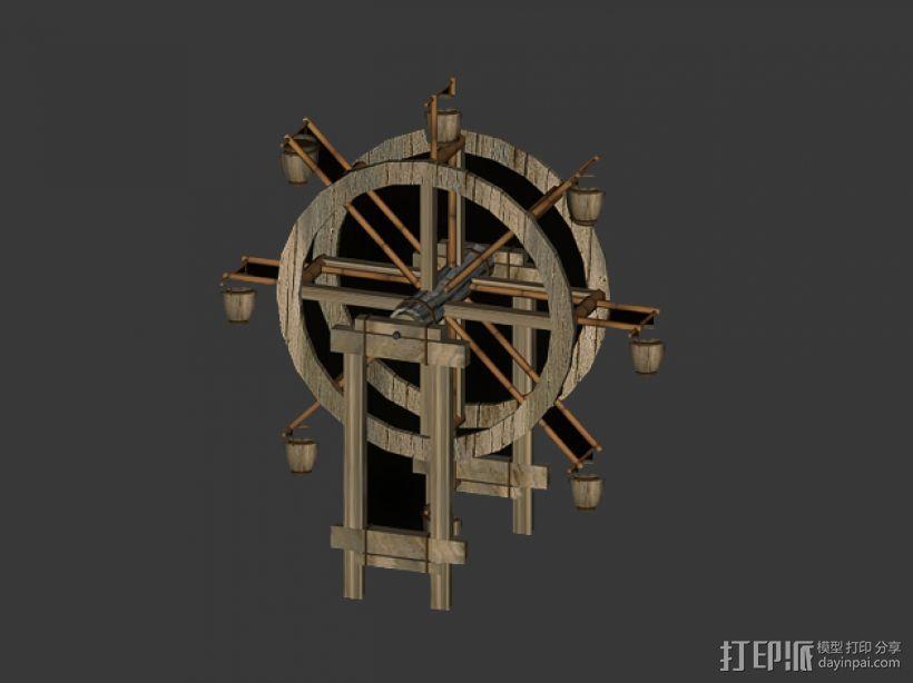 水车 3D模型  图1