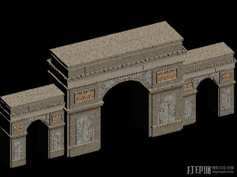 大门 凯旋门 3D模型  图1