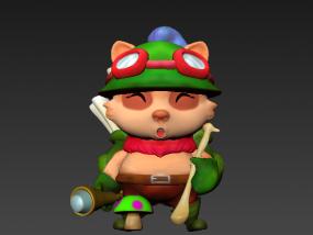TIMO (英雄联盟LOL人物) 3D模型