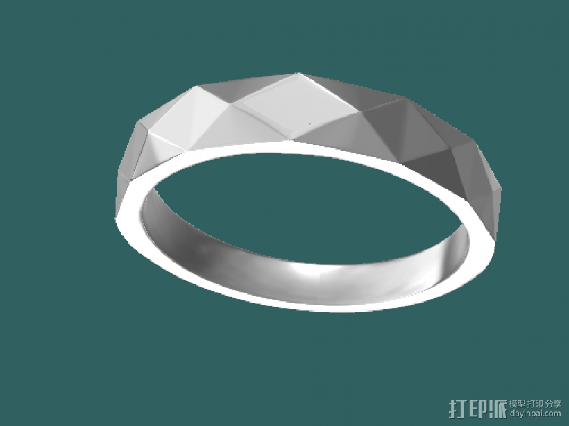 戒指 3D模型  图1