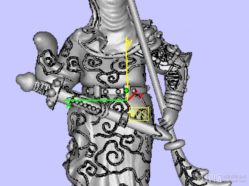 威武关公 3D模型  图1