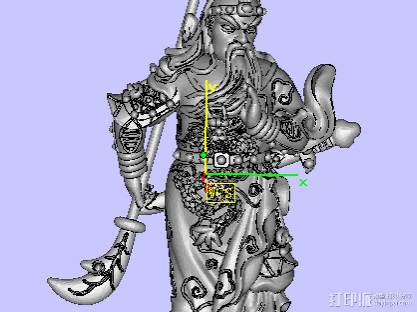 威武关公 3D模型  图2