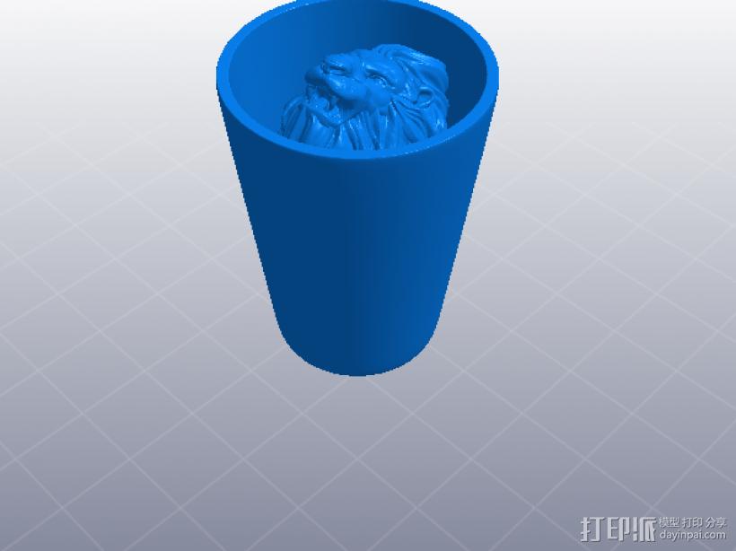 狮头水杯 3D模型  图5
