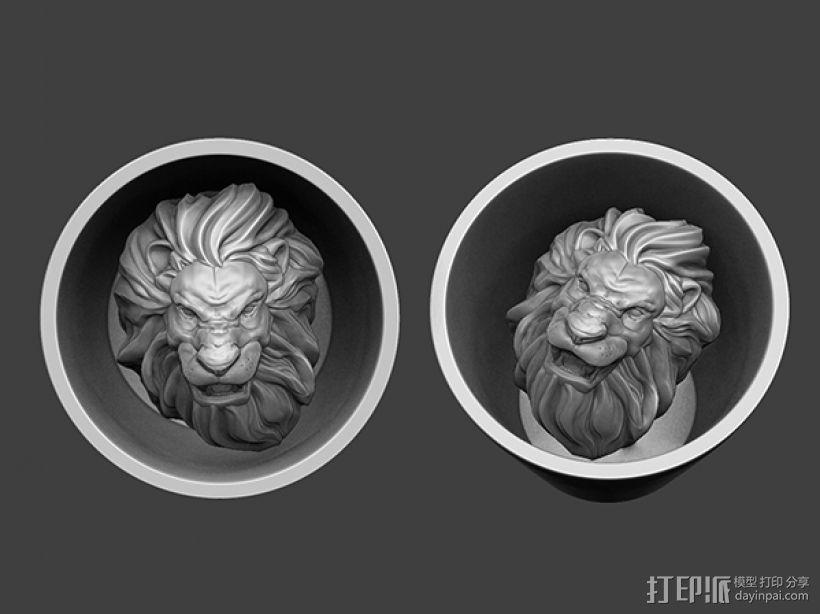 狮头水杯 3D模型  图2