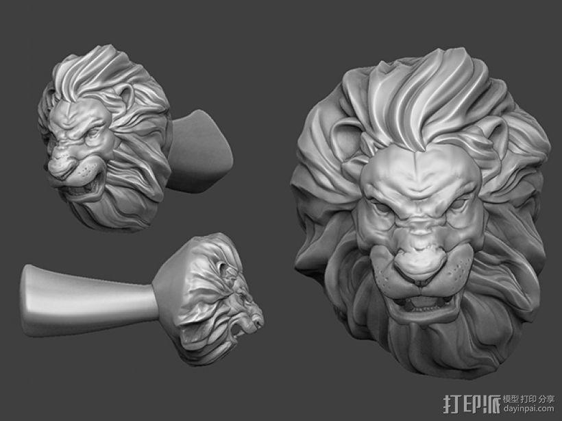 狮头水杯 3D模型  图4