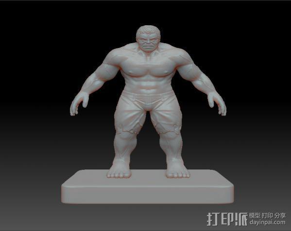 绿巨人Hulk 3D模型  图1