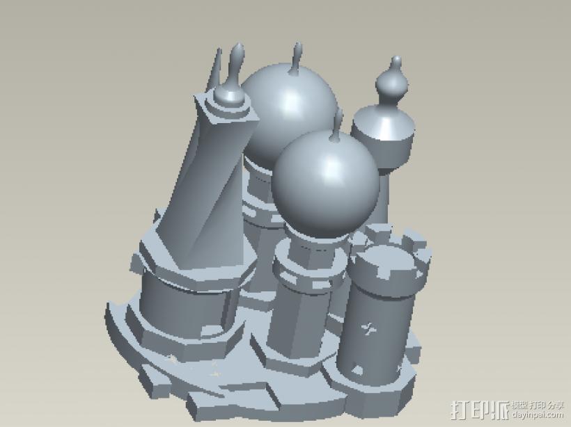 小型城堡 3D模型  图2