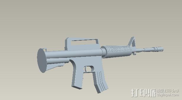 步枪 3D模型  图1