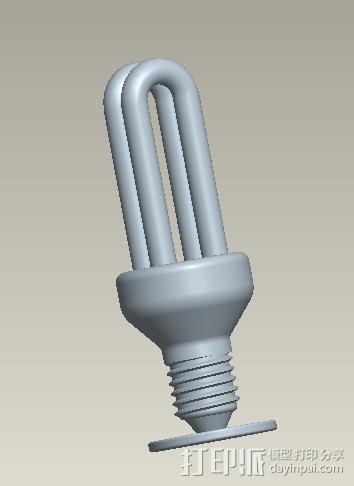 日光灯 3D模型  图1