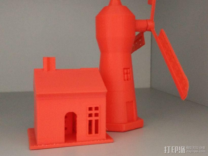 风车屋子 3D模型  图1
