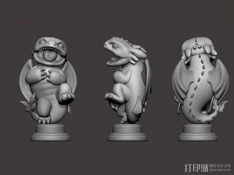 驯龙高手_无牙 3D模型  图1