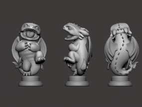 驯龙高手_无牙 3D模型