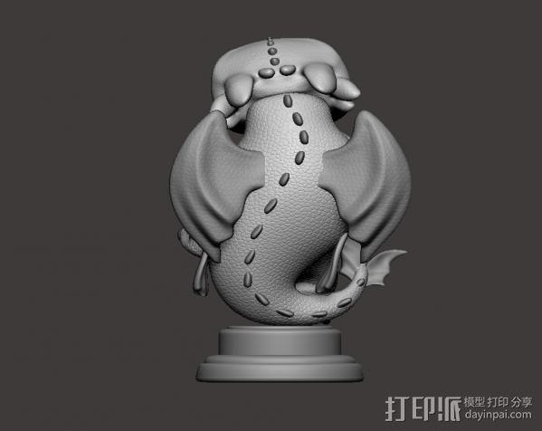 驯龙高手_无牙 3D模型  图2