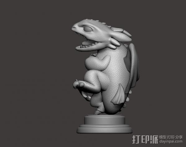 驯龙高手_无牙 3D模型  图3