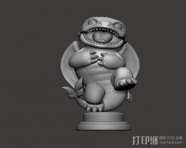 驯龙高手_无牙 3D模型  图4