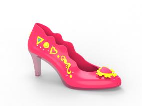 女高跟鞋3D 3D模型