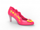 女高跟鞋3D 3D模型 图1