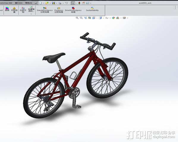 山地自行车 3D模型  图2