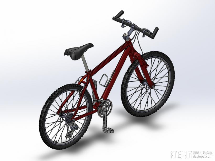 山地自行车 3D模型  图1